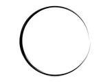 Ink circle.Grunge paint circel.Oval shape made of ink. - 220809333