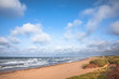 Deserted beach and choppy seas on Prince Edward Island