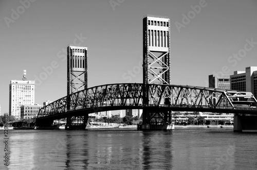 Foto Murales Famous bridge at Jacksonville, Florida
