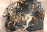 Joan of Arc - An hand painted illustration - 220847992