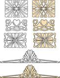 A set of vintage decorative elements - 220876121