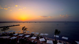 Spectacular sunset over the sea to Sicily, the island of Ortigia. - 220877163