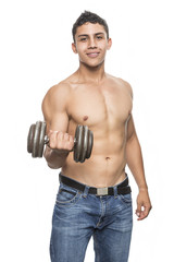 Young muscular man in gym © jcfotografo
