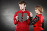 Unhappy couple thinking about divorce. - 220880789