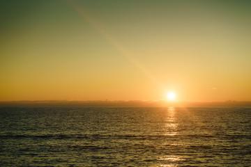 Sunset or sunrise over sea surface © anetlanda