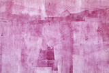 Concrete wall with pink paint layer, grungy background - 220883907
