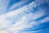 Background photo, cumulus and cirrus clouds - 220883983