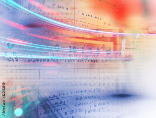 cyfrowy kod numer streszczenie technologia tło