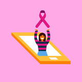 Breast Cancer Care phone concept for phone app - 220896167