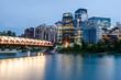 Calgary skyline over Bow River
