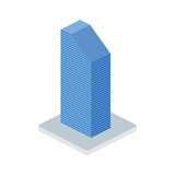 Business building isometric icon - 220914180