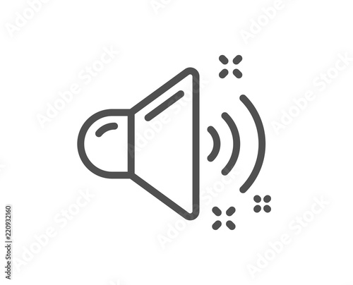Loud Sound Line Icon Music Sound Sign Musical Device Symbol