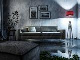 Regen in der Wohnung - Nasses Wohnzimmer - 220936502