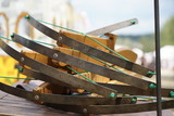 Replica primitive war weapons displayed on a festival in Bavaria  - 220943989