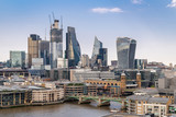 London downtown with River Thames - 220957957