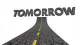 Tomorrow Future Coming Soon Next Road Word 3d Animation - 220958340