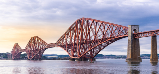 The Forth bridge Edinburgh Panorama