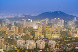 Night view of Seoul Downtown cityscape - 220959110