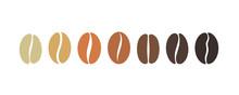 "Постер, картина, фотообои ""Coffee bean set. Isolated coffe beans on white background"""