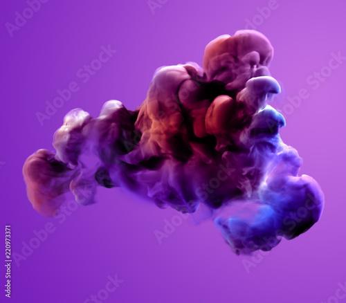 Leinwandbild Motiv Colorful smoke. 3d illustration, 3d rendering.