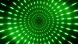 2D Green Neon Circles Tunnel Loopable Background - 220973545
