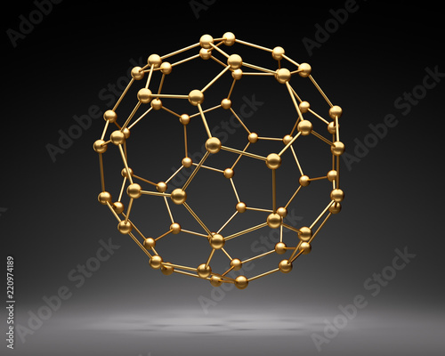 Goldener Nanoball