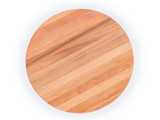Round wooden cutting board isolated with clipping path - 220981780