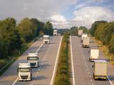 trucks on the German motorway - 220987177
