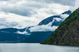 Blick auf den Aurlandsfjord in Norwegen