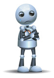 little robot emotion in sorrowful - 220995925