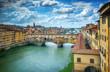 Quadro Famous bridge Ponte Vecchio on the river Arno in Florence, Italy.