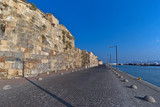 An old fort with a harbor on the island of Kos