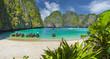 Leinwandbild Motiv Amazing Maya Bay on Phi Phi Islands, Thailand