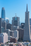 San Francisco, aerial view of Financial District downtown