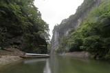 猊鼻渓と舟下りの舟 - 221027913