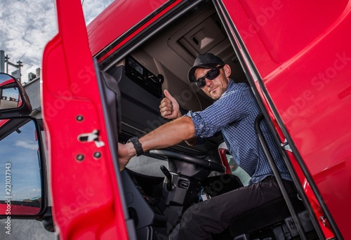 Truck Driver Thumb Up