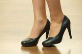 Unrecognizable woman wearing high heels - 221046778