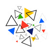 Abstract geometric shape background modern retro vintage style