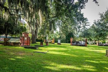 daytime cemetery view