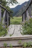 Старый мост в горной местности - 221058367