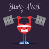 Strong Heart Character Lifting Heavy Weight - 221062523