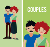 Cute couples cartoons - 221062563