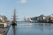 The Samuel Beckett Bridge over the River Liffey in Dublin, Ireland. - 221069100