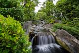 A stream flowing in a Japanese garden