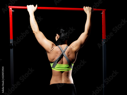 Women excercising on rod - 221072934