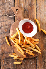 french fries and ketchup © M.studio