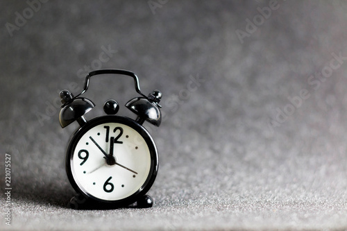 Black Retro Alarm Clock At MidnightOn The Area Is Soft Wallpaper And Background