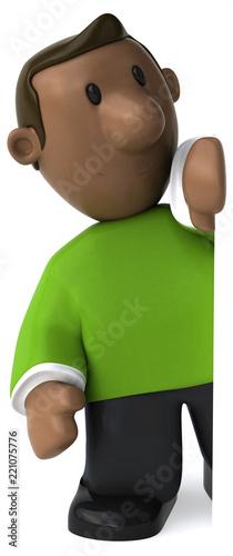 Cartoon guy - 3D Illustration