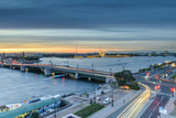 St. Petersburg from the roof, the Palace Bridge and the Neva River - 221082374