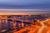 St. Petersburg from the roof, the Palace Bridge and the Neva River - 221082501